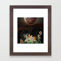 Mini Shrooms Framed Art Print