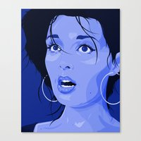 Fright - Blue Canvas Print