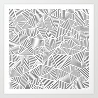 Abstraction Linear Inver… Art Print