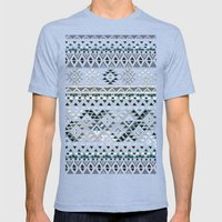 GEO TRIBAL N. // GRAY VE… Mens Fitted Tee Tri-Blue SMALL