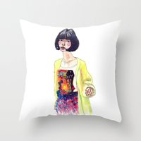 Fashion Illustration . O… Throw Pillow