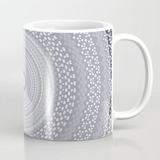 Kaleidoscope Greys Pattern Mug