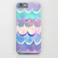 iPhone & iPod Case featuring Mia Wave {Aqua} by Schatzi Brown