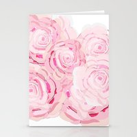 Shabby Chic Roes Stationery Cards