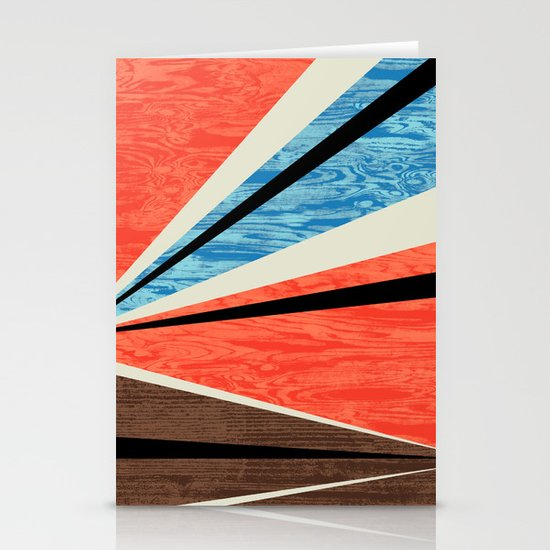 Graphic Woodgrain Stationery Card
