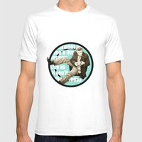James Dean Mens Fitted Tee White SMALL