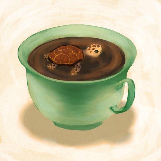 Tea Turtle Art Print