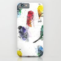iPhone & iPod Case featuring Palette Birds by Annie illustrations