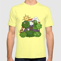 Wilderness Cuteness Mens Fitted Tee Lemon SMALL