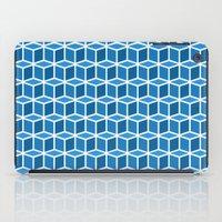 Blue Boxes iPad Case