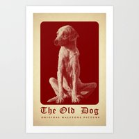 The Old Dog Original Hal… Art Print