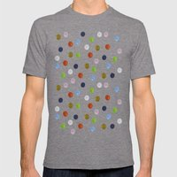 Pinpoint Dots Mens Fitted Tee Tri-Grey SMALL