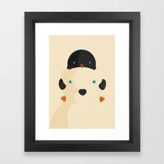 Snow Buddies Framed Art Print