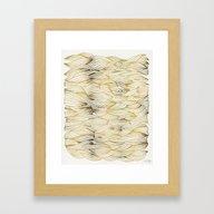 Golden Waves Framed Art Print