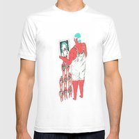 Rebound Girls Mens Fitted Tee White SMALL