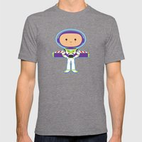 Space Ranger Mens Fitted Tee Tri-Grey SMALL