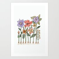 Progress flowers Art Print
