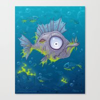 Zombie Fish Canvas Print
