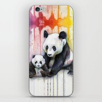 Pandas And Rainbow Water… iPhone & iPod Skin