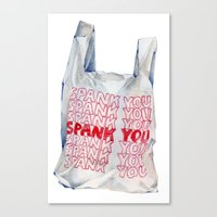 Spank You Very Much Canvas Print