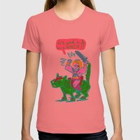 Masters of the universe of love 1 Womens Fitted Tee Pomegranate SMALL