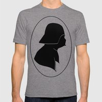 Dark Side Silhouette  Mens Fitted Tee Tri-Grey SMALL