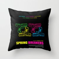 Spring Breakers Throw Pillow