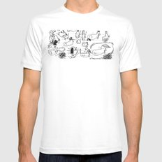 Doobles SMALL White Mens Fitted Tee