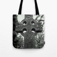 Celtic graveyard Tote Bag
