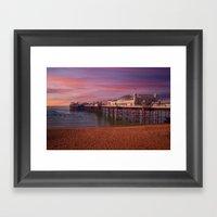Brighton Pier Sunrise Framed Art Print