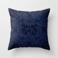 Frosty Blue Design Throw Pillow