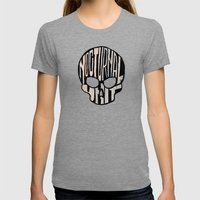 NU Skull Womens Fitted Tee Tri-Grey SMALL