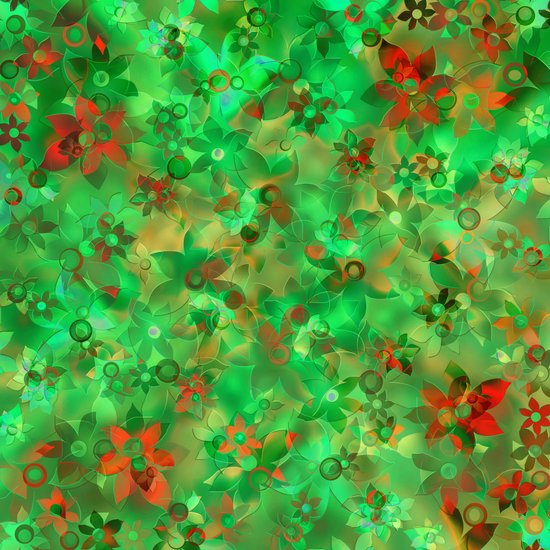 Floral pattern green Canvas Print