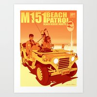 Beach Rescue Honeys - Su… Art Print