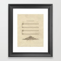 The Sound Of Silence Framed Art Print