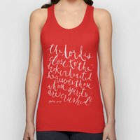 PSALM 34:18 (Black and White) Unisex Tank Top