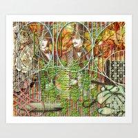 Crimson Petal's Lying Decay (1) Art Print