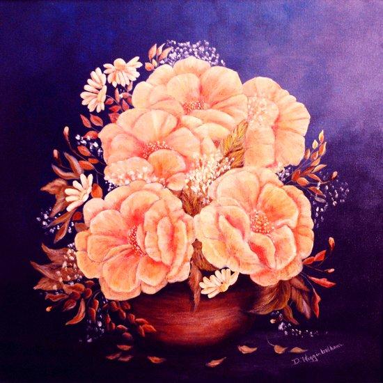 Peonies  painting Canvas Print