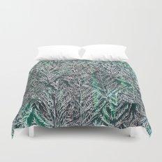 Snow Pines (Green) Duvet Cover