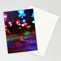 Teacups Blur at Night Stationery Cards