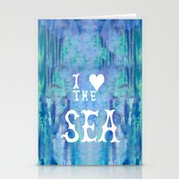 I Love the Sea 2 Stationery Cards