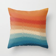 Colorful Static Throw Pillow