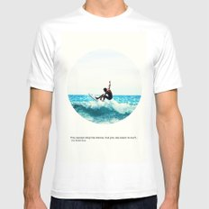 Surf Quote SMALL Mens Fitted Tee White