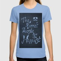 The Funniest People Womens Fitted Tee Athletic Blue SMALL