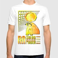 Ra Solar Power Mens Fitted Tee White SMALL