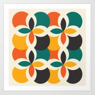 Art Print featuring Midcentury Pattern 09 by BLKSPC