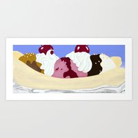 Bigger Banana Split Art Print