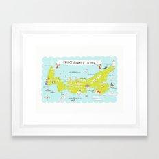map of PEI Framed Art Print