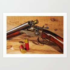 Old Double Barrel Stevens Art Print