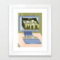 The Internet: A Wasteland Of Information Framed Art Print